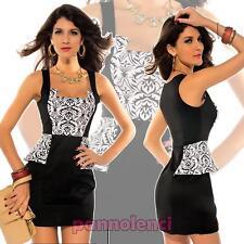 Minivestido vestido BICOLOR mujer vestido corto cóctel traje moda NUEVO DL-765