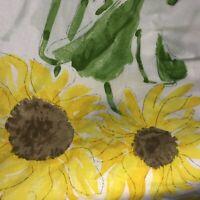 Vintage Vera Neumann Burlington Flat Bed Sheet Yellow Sunflowers Twin Flat