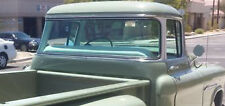 55-59 Chevy Truck Green Tinted Temped Glass Kit Big Back Glass Door Vent Window