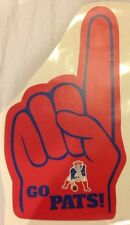 "20""x11"" New England Patriots FATHEAD Fan Finger with Throwback Logo Wall Decal"