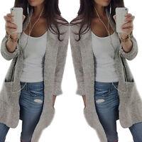 Beauty Women Long Sleeve Oversize Loose Knitted Sweater Jumper Cardigan Outwear