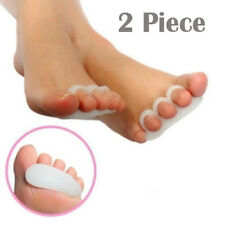 2pc Soft Gel Toe Separator Crest Hammer Toe Claw Mallet Toe Straightener Aid