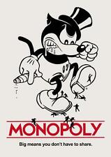 Old Print. Mickey Mouse Monopoly
