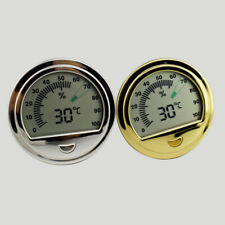 Round shape tobacco herbal Cigar Hygrometer durable cigar humidor accessory