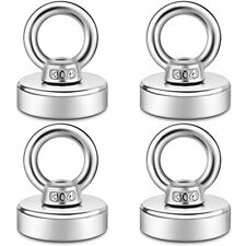 Fishing Magnets 100lbs Pull Up Force Rare Earth With Stainless Steel Eye Bolt