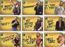WWE CATCH PHRASES * Entire 15 Card Insert Set * Fleer RARE! Trish Stratus Hogan