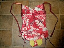 Sonoma One Piece Bathing Suit Swim Pink Woman's 36D/34DD Tall