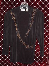 Womans CHICO'S Travelers Shirt Tunic Size 1 S/M