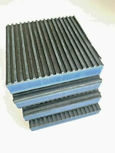 """4 PACK ANTI VIBRATION PADS ISOLATION DAMPENER SUPER HEAVY DUTY 4"""" x 4"""" x 7/8"""""""