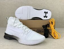Under Armour x Project Rock White Training Shoes 3020788-102 New Mens Sz 14