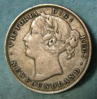 1894 Newfoundland Canada Silver 20 Cents KM# 4 High Grade Canadian Coin #4406