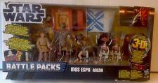 "STAR WARS Battle Packs MOS ESPA ARENA , C3PO, ANAKIN,SEBULBA & 2 PIT DROID 3.75"""