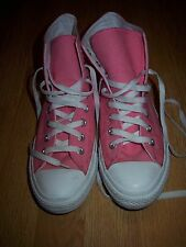 CONVERSE ALL STAR Pink High Top Unisex Lace Up Trainers Size 7.5