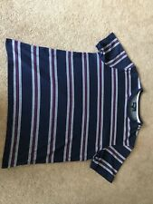 Men's Easy Round Neck Striped T.Shirt Top Uk Size Large