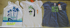 Lot of 3 GYMBBORE Girls SIZE 5 Years Old TOPS Shirts TEE Summer NWT retail $66