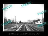 OLD 6 X 4 HISTORIC PHOTO OF TINDALL MISSOURI, THE RAILROAD DEPOT STATION c1940