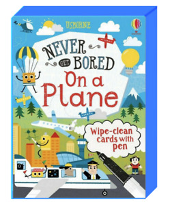 Usborne Never Get Bored On A Plane Cards (Card Deck w/ pen) FREE shipping $35