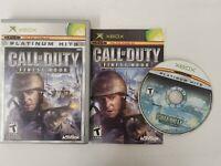 Call of Duty: Finest Hour (Microsoft Original Xbox 1, 2004) Complete - COD