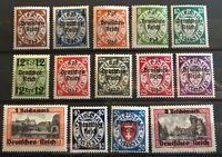 Germany 3rd Reich Danzig 1939 Mi 716-729 Sc 241-54 MNH  Overprint