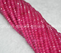 2x4mm Faceted Rose Ruby Gemstone Rondelle Loose Beads 15inch JL220