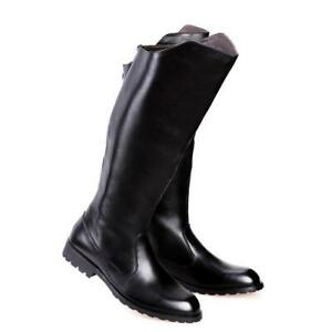 Men's Riding Military Boots Leather Knee High Equestrian Casual Fashion Shoes Sz