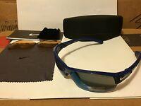 32dadd4a38 NEW NIKE SHOW X2 Sunglasses Team Royal  Grey with Blue Flash   Bronze  EV0675-