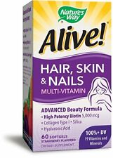 Nature's Way Alive! Hair, Skin & Nails Multi-Vitamin, 60 Ct (2 Pack)