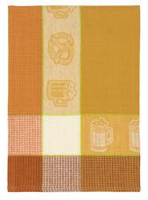 """100% Cotton Brown & White 20""""x28"""" Dish Towel, Set of 6 - Beer Mug Wheat"""