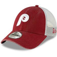Philadelphia Phillies New Era 9FORTY Cooperstown Trucker Snapback Hat Mesh Cap