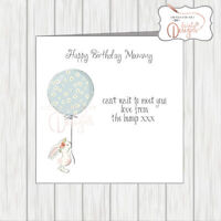 Happy 1st Birthday Card Mummy Mum To Be From The Bump Pregnant - Balloon Bunny