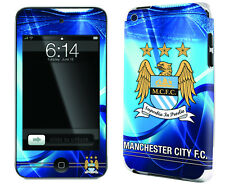 Manchester City Football Club iPod Touch 4 Skin Sticker Official Sky Blues New