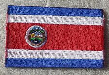 COSTA RICA FLAG PATCH Embroidered Badge Iron Sew on 3.8cm x 6cm Central America