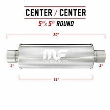 "3"" 5 Round 14 inch Stainless Steel MagnaFlow Exhaust Silencer 12867"