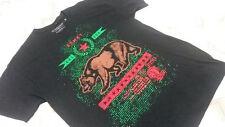 CALIFORNIA REPUBLIC LOGOMen T Shirt  L Black  Short Sleeve  (#1)