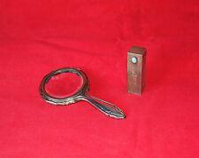 Argento 800 PORTA ROSSETTO SPECCHIETTO TRUCCO Toilette Lipstick Silver Vintage
