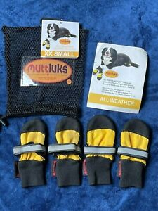 DOG BOOTS leather soles XXSmall MUTTLUKS outdoor Non-slip ADDED TRACTION protect
