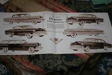 1953  DESOTO  DEALER  SALES FOLDOUT BROCHURE