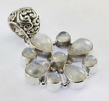 RAINBOW MOONSTONE PENDANT 925 STERLING SILVER ARTISAN JEWELRY COLLECTION Y121B
