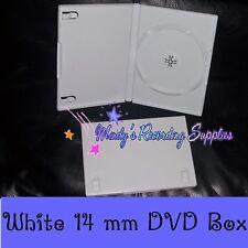 "5/8"" 14 mm DVD Case Movie Box New White Buy 1 Singles"