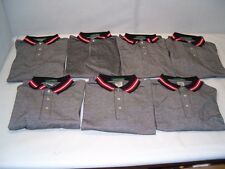 Lot of 7 Outer Banks Size XXLarge Gray with Red Accents Polo Shirts - NEW!