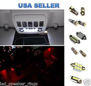 12pc  LED Interior Light Kit For Volkswagen MK5 GTI GOLF RABBIT RED Footwell LED