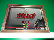 BUD BEER OFFICIAL SPONSOR OF THE 2000 US OLYMPIC TEAM BEER BAR MIRROR