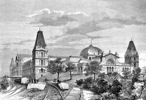 Art Alexandra Palace Muswell Hill England in 1875   Poster Print