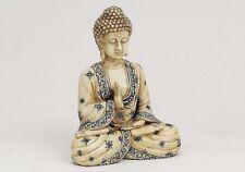 edel neue Buddha Figur In Elfenbeinoptik Größe 16cm