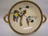 "Noritake ""Bird of Paradise"" Hand Painted Handled  Bowl 8"" Diameter VGC"