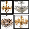 3/6/10 Light Clear/Cognac Crystal Chandelier Home Room Decoration Pendant Lights