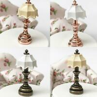 1:12 Dollhouse Accessorie For Doll Dollhouse Green Metal Table Lamp Bedside Lamp