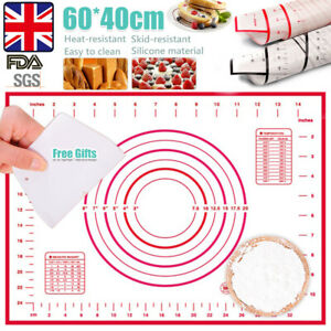 Silicone Cake Dough Pastry Fondant Rolling Cutting Mat Baking Pad Pastry Board