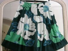 OASIS SKIRT size 12 GREEN,S/BLUE,S EMBELLISHED LINED