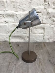 Rare Industrial Vintage Retro Adjustable Light Desk Lamp or Reading Light Heavy
